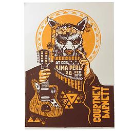 Afiche Oficial Courtney Barnett Lima Peru ´19 de Jofré Conjota