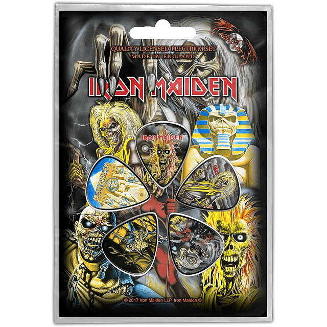Uñetas Iron Maiden Early Albums
