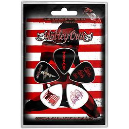 Uñetas Mötley Crüe Red, White & Crue