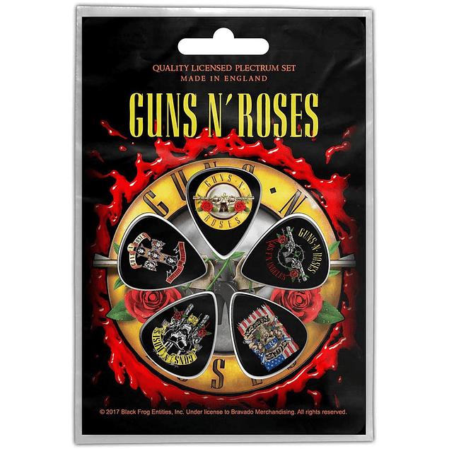 Uñetas Guns´n Roses Bullet Logo