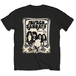 Polera Oficial Unisex Black Sabbath World Tour 78