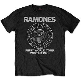 Polera Oficial Unisex Ramones First World Tour 78
