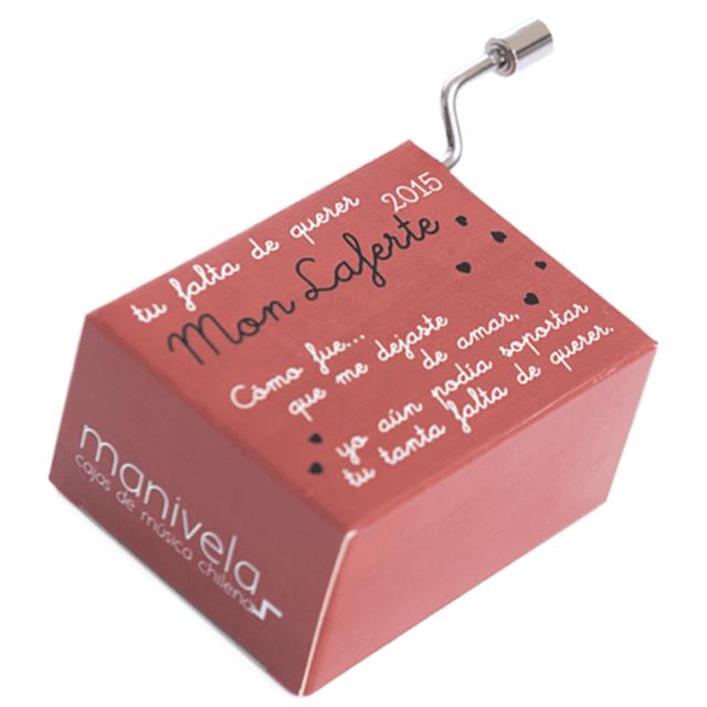 "Caja Musical Tu Falta de Querer ""Mon Laferte"" de la Manivela"