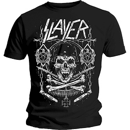 Polera Unisex Slayer Skull & Bones Revised
