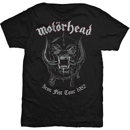 Polera Unisex Motörhead Iron First Tour 1982