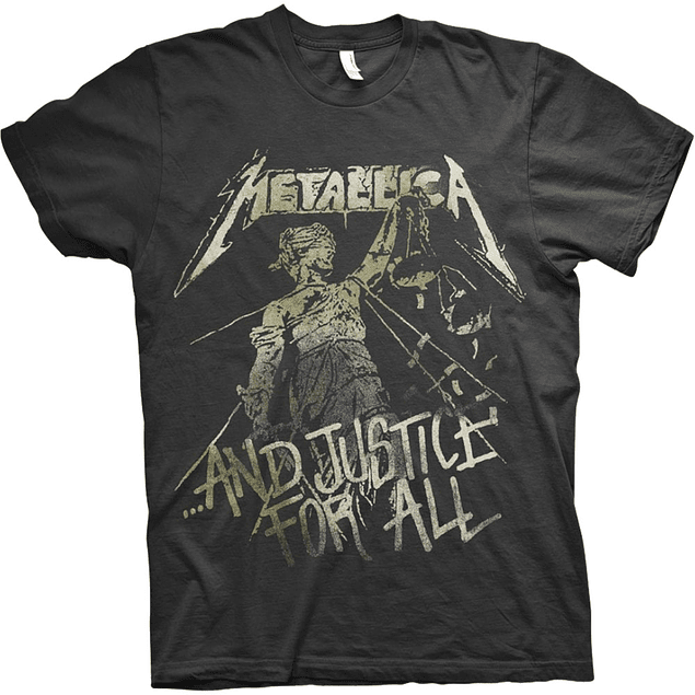 Polera Unisex Metallica And Justice For All