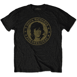 Polera Oficial Unisex Rolling Stones Keith For President