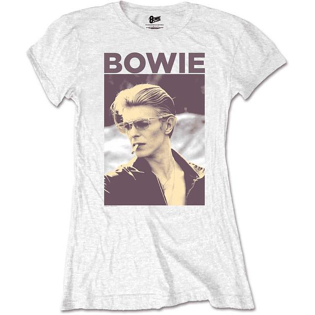 Polera Oficial Mujer David Bowie Smoking