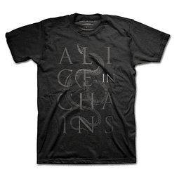 Polera Oficial Unisex Alice In Chains Snakes
