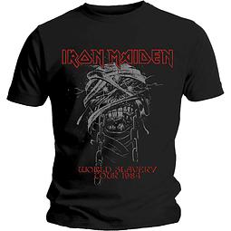Polera Unisex Iron Maiden World Slavery Tour 1984