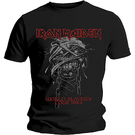 Polera Unisex Iron Maiden World Slavery Tour 1984