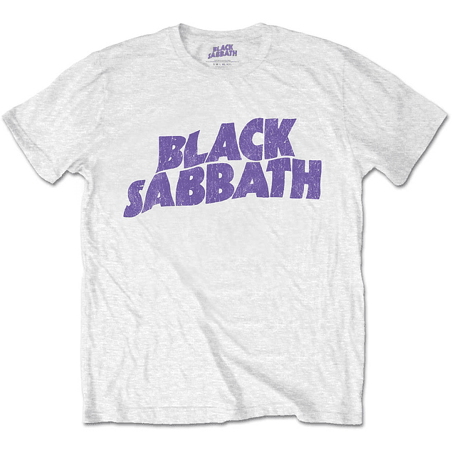 Polera Oficial Unisex Black Sabbath Wavy Logo