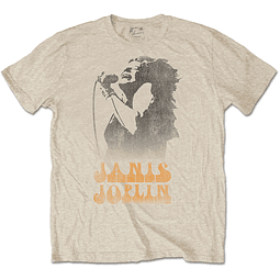 Polera Oficial Unisex Janis Joplin Working the Mic