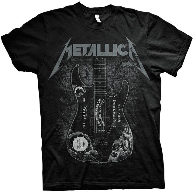 Polera Unisex Metallica Hammett Ouija Guitar
