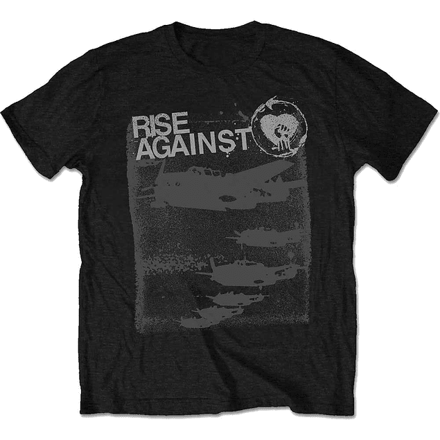 Polera Oficial Unisex Rise Against Formation