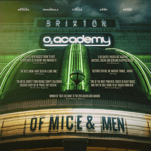 "Vinilo ""2LP"" + DVD Of Mice & Men - Live At Brixton"