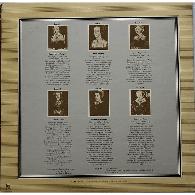 Vinilo Usado Rick Wakeman - The Six Wives Of Henry VIII