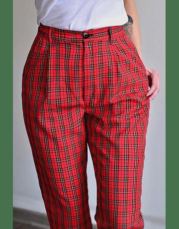 Pantalón Gwen Escocés Rojo