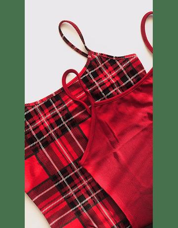 Vestido Rachel Escocés Rojo