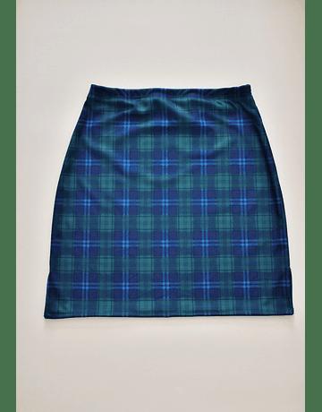 Falda Cuty escocés azul