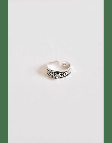 Midi Rings Piedra Plata Ajustable