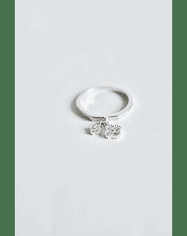 Midi Ring Micro Circón Plata