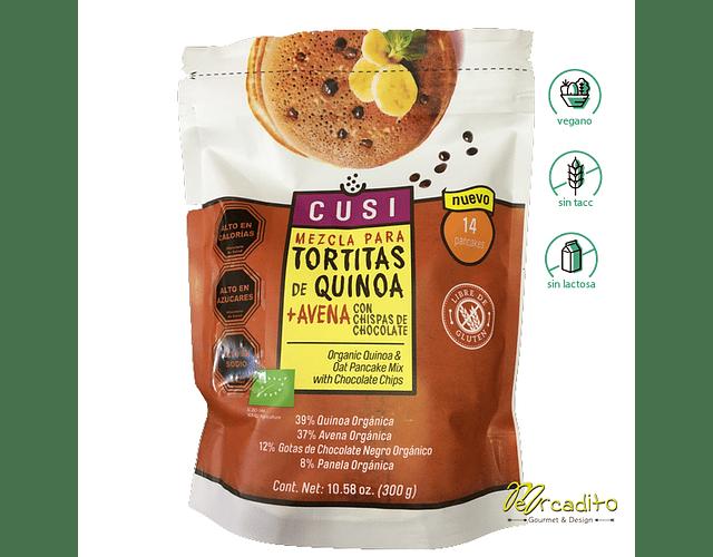 Pre-mezcla Sin Gluten para Tortitas de Quinoa & Avena con chips Chocolate