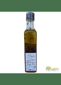 Reducción de Sauvignon Blanc, Aceite de Oliva, Sésamo Negro y Linaza - Listo para Aliñar