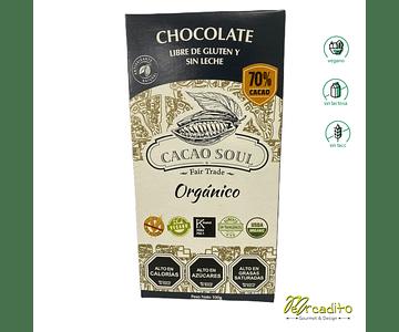 Chocolate 70% Cacao - Sin Gluten, Vegano