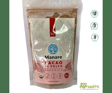 Cacao en Polvo 200 grs -  Manare, Vegano, Sin Lactosa, Sin Gluten