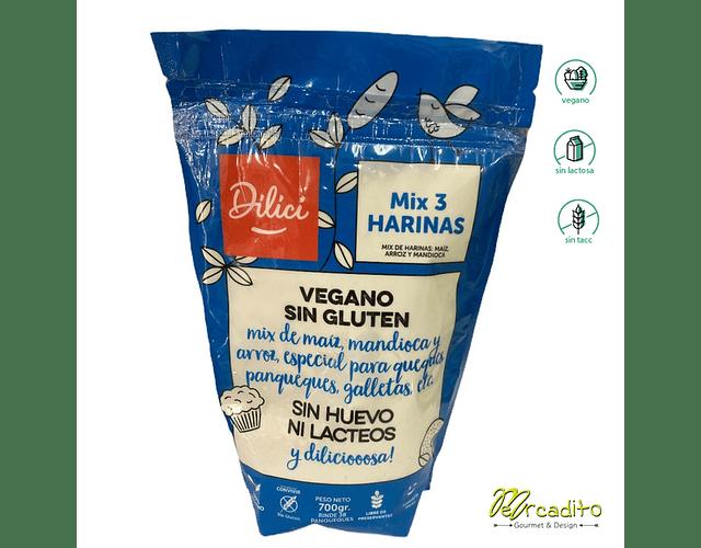 Harina o Pre mix 3 harinas - Dilici