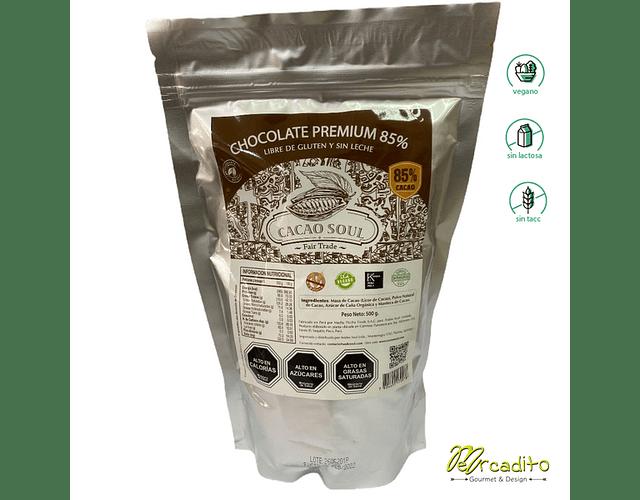 Cobertura de 85% de Cacao (500 grs) - Sin Gluten, Vegano