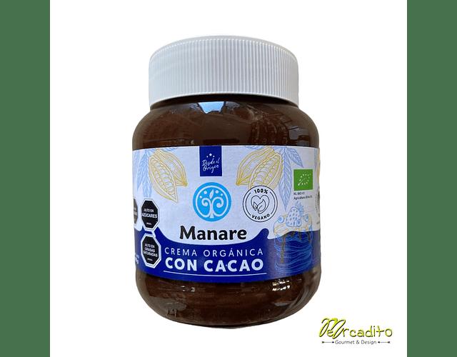 Crema Orgánica Vegana con Cacao 400 g