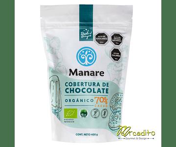 Cobertura 70% cacao Orgánico 400 Grs