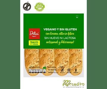 Baguetin d' Linaza - Vegano, Sin Gluten, Sin Lactosa