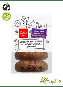 Bagel Noir - Vegano, Sin Gluten y Sin Lactosa