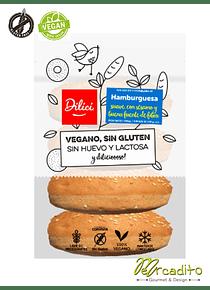 Pan de Hamburguesa - Vegano, Sin Gluten y Sin Lactosa
