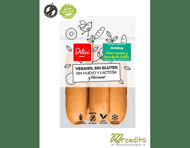 Pan de Hot Dog - Vegano, Sin Gluten y Sin Lactosa