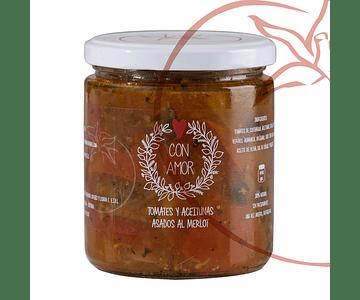 Tomate y Aceituna Asado - Con Amor