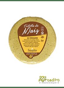 Tortilla de maíz para tacos - 9 cms (24 unidades)