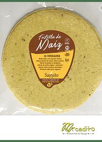 Tortilla de maíz grande para fajita - 17 cms (8 unidades)