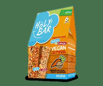 Barra de Cereal Avena, Zanahoria, Nuez y Calabaza - Vegano,  0% Azúcar añadida