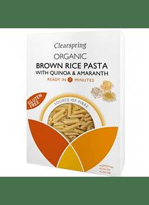 Pasta de Arroz Integral, Quinoa y Amaranto - Sin Gluten, Sin Lactosa y Vegano