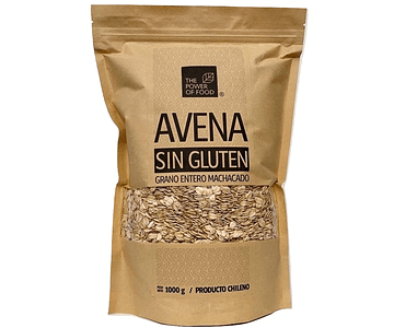 Avena Integral Grano entero Machacado - Sin Gluten, 1 Kilo