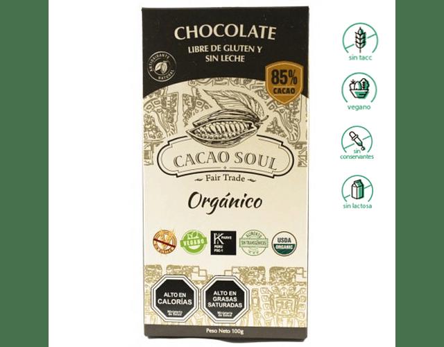 Chocolate 85% Cacao - Sin gluten, Vegano