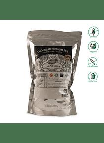 Cobertura de Chocolate 55% Cacao (500gr) - Sin Gluten, Vegano