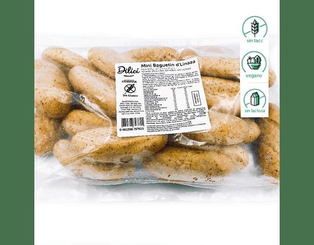 Mini Le Baguetin de Linaza (20 unidades) - Sin gluten, Vegano