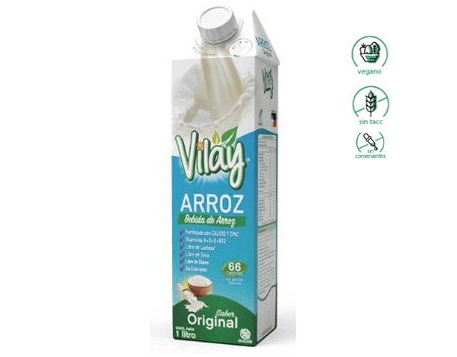 Bebida de Arroz - Vilay, Sin Gluten, Vegano