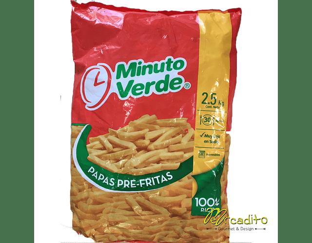 Papas Pre Fritas Minuto Verde - Formato Familiar 2,5 kg