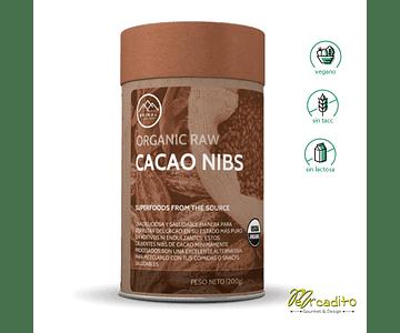 Cacao Nibs Orgánico - Sin Gluten, Vegano, Sin Lactosa